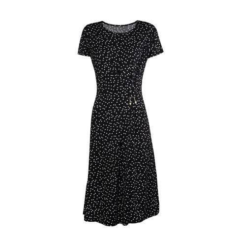Haljina ženska crna sa točkicama